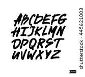 expressive calligraphic script...   Shutterstock .eps vector #445621003