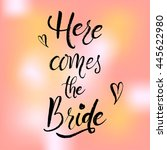 wedding stationary and card.... | Shutterstock .eps vector #445622980