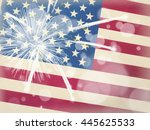 american flag background  4th... | Shutterstock . vector #445625533