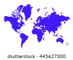 vector map map of world on... | Shutterstock .eps vector #445627300