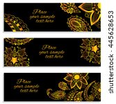 a set of templates for  cards ... | Shutterstock .eps vector #445628653