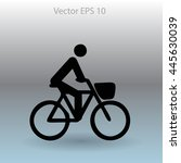 flat cyclist icon | Shutterstock .eps vector #445630039