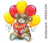 vector illustration toy. little ... | Shutterstock .eps vector #445631104
