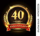 celebrating 40 years... | Shutterstock .eps vector #445632226