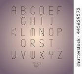 thin font. vector illustration...   Shutterstock .eps vector #445639573