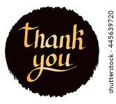 thank you golden handwritten... | Shutterstock .eps vector #445639720