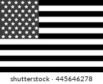 american flag  stylish vector... | Shutterstock .eps vector #445646278