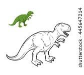 Постер, плакат: Tyrannosaurus Rex dinosaur coloring