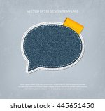 vector denim speech bubble icon ...