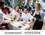 portrait of smiling friends in...   Shutterstock . vector #445652506