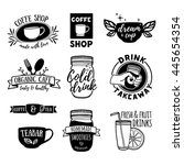 set retro vintage logos for... | Shutterstock .eps vector #445654354