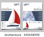 yacht club. flyer design... | Shutterstock .eps vector #445658590