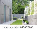 modern  garden of the house | Shutterstock . vector #445659466