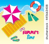 summer and holidays. the... | Shutterstock .eps vector #445663408