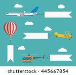 flat vector airplane ... | Shutterstock .eps vector #445667854