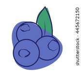 colorful blueberry icon.... | Shutterstock .eps vector #445672150