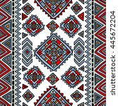 tribal seamless geometric... | Shutterstock .eps vector #445672204