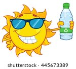 cute sun cartoon mascot...