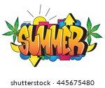graffiti. summer word. street...   Shutterstock .eps vector #445675480
