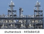 illuminated industrial... | Shutterstock . vector #445686418