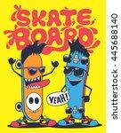 skateboard monster vector design | Shutterstock .eps vector #445688140