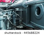 hydraulics tractor. focus on... | Shutterstock . vector #445688224