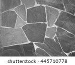 stone wall background with... | Shutterstock . vector #445710778