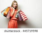 portrait of young happy smiling ... | Shutterstock . vector #445719598