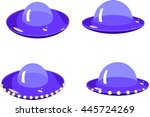 flying saucers | Shutterstock .eps vector #445724269