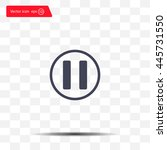 pause button vector icon | Shutterstock .eps vector #445731550