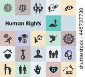 vector illustration   human... | Shutterstock .eps vector #445737730