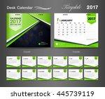set green desk calendar 2017...   Shutterstock .eps vector #445739119