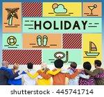 holiday break festival journey... | Shutterstock . vector #445741714