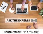 ask the experts man touch bar... | Shutterstock . vector #445748509