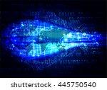 vector world future technology  ... | Shutterstock .eps vector #445750540