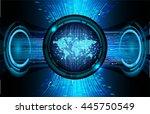 vector world future technology  ... | Shutterstock .eps vector #445750549
