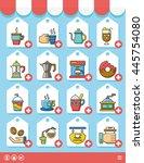 icon set coffee vector   Shutterstock .eps vector #445754080