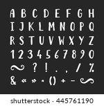 handwritten bold grunge font... | Shutterstock .eps vector #445761190