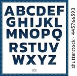 blue jean alphabet font. | Shutterstock .eps vector #445766593