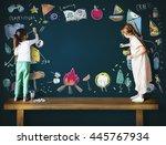 summer camp adventure... | Shutterstock . vector #445767934