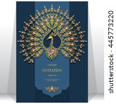 wedding invitation or card with ... | Shutterstock .eps vector #445773220