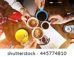 coffee shop cafe restaurant ... | Shutterstock . vector #445774810