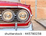 headlight of a vintage car | Shutterstock . vector #445780258