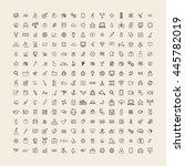 vector ui illustration mixed... | Shutterstock .eps vector #445782019