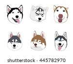cute dogs gang cartoon | Shutterstock .eps vector #445782970