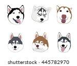cute dogs gang cartoon | Shutterstock .eps vector #445782970