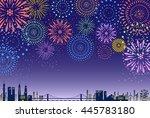firework over the city | Shutterstock .eps vector #445783180