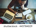overload working career... | Shutterstock . vector #445784029