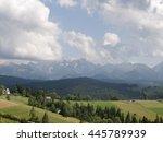 panoramic view of tatra... | Shutterstock . vector #445789939