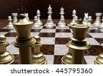 luxury chessmen on marble...   Shutterstock . vector #445795360